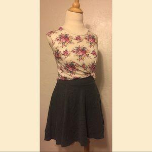 H&M Divided Charcoal Circle Skirt